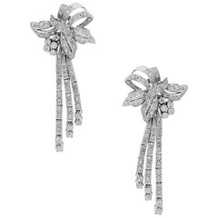 2.50 Carat Vintage Diamond Dangle Earrings