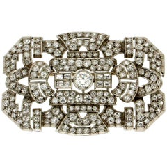White Gold 18 karat Diamonds Brooch