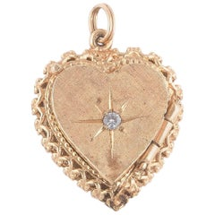 Late 19th Century Diamond Pendant Heart Locket, circa 1890