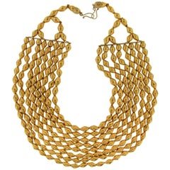 Yellow Gold 22 Carat Multi-Strand Necklace