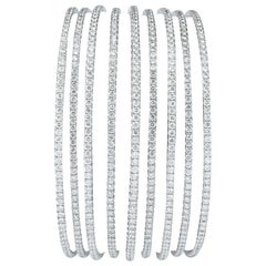 Multi Row Diamond Bangle