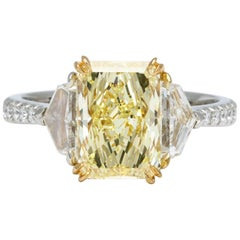 GIA Certified Fancy Yellow Diamond Ring