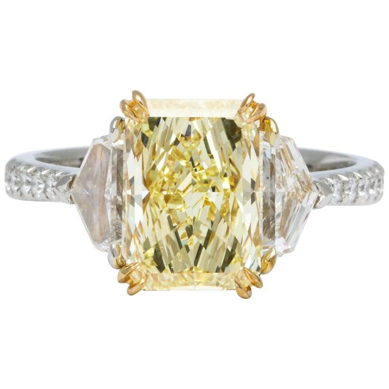 GIA Certified Fancy Yellow Diamond Ring