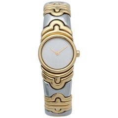 Bulgari yellow gold stainless steel Parenthese Quartz Wristwatch