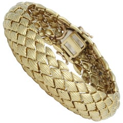 Gold Bracelet with Engraved Design