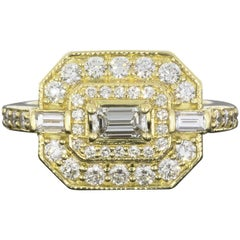 Penny Preville 1.01 Carat Diamond 18 Karat Yellow Gold Ring