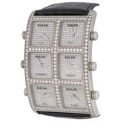 IceLink Stainless Steel Ambassador Presidential Collection Quartz Wristwatch