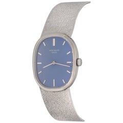 Patek Philippe Ladies White Gold Ellipse Manual Wind Wristwatch Ref 3545/2