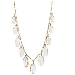 15 Karat Victorian Moonstone Necklace