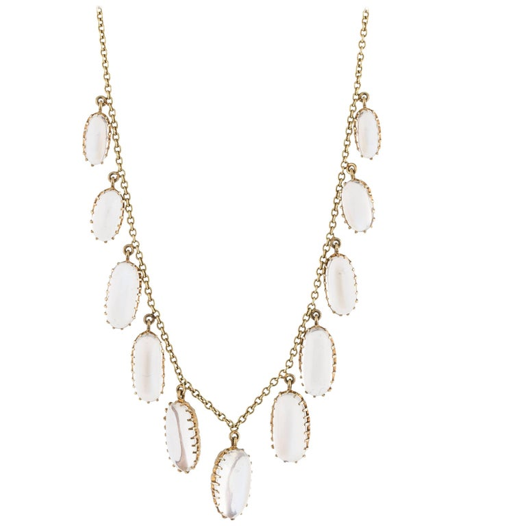 15 Karat Victorian Moonstone Necklace