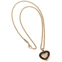 Chopard Diamond Happy Heart Yellow Gold Pendant Necklace