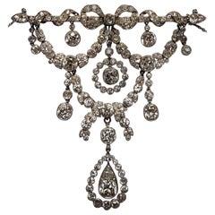 Belle Epoque Cartier Paris  Diamond Platinum  Necklace