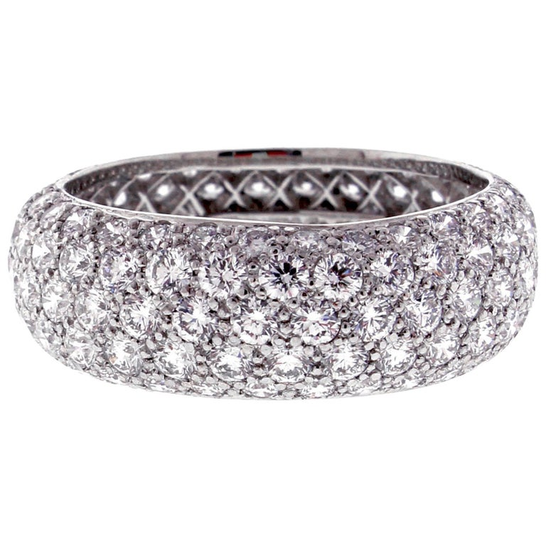 cartier like eternity at bands rings diamond band platinum ring new and