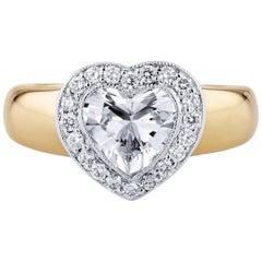 H & H 1.41 Carat Heart-Shaped Diamond Engagement Ring