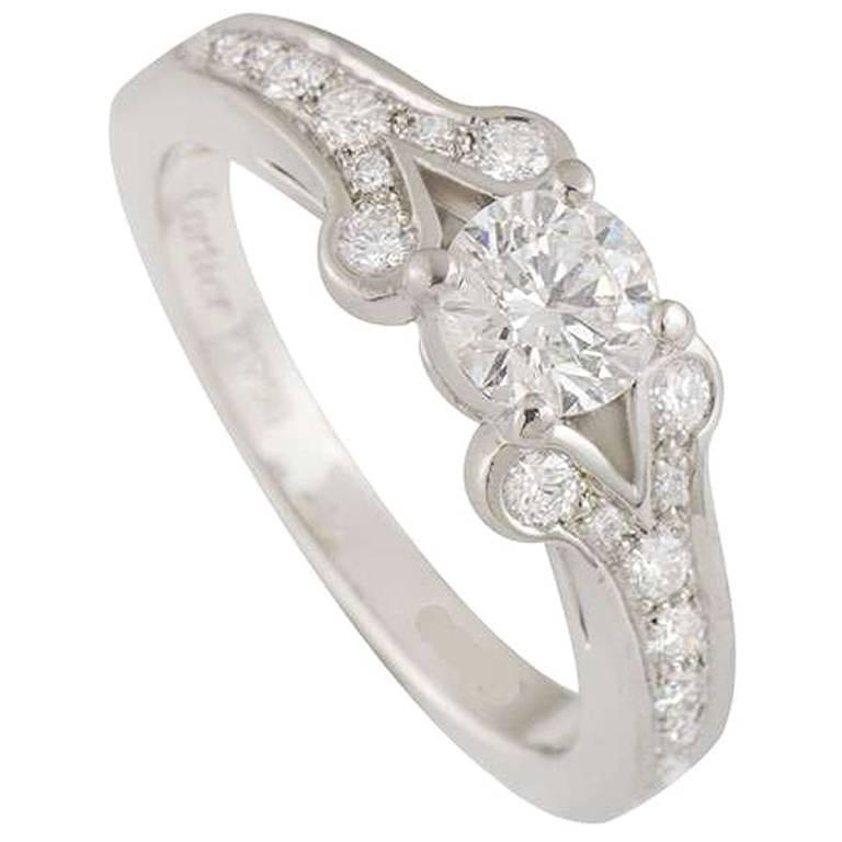 Cartier Diamond Ballerine Ring 0.53 Carat GIA Certified