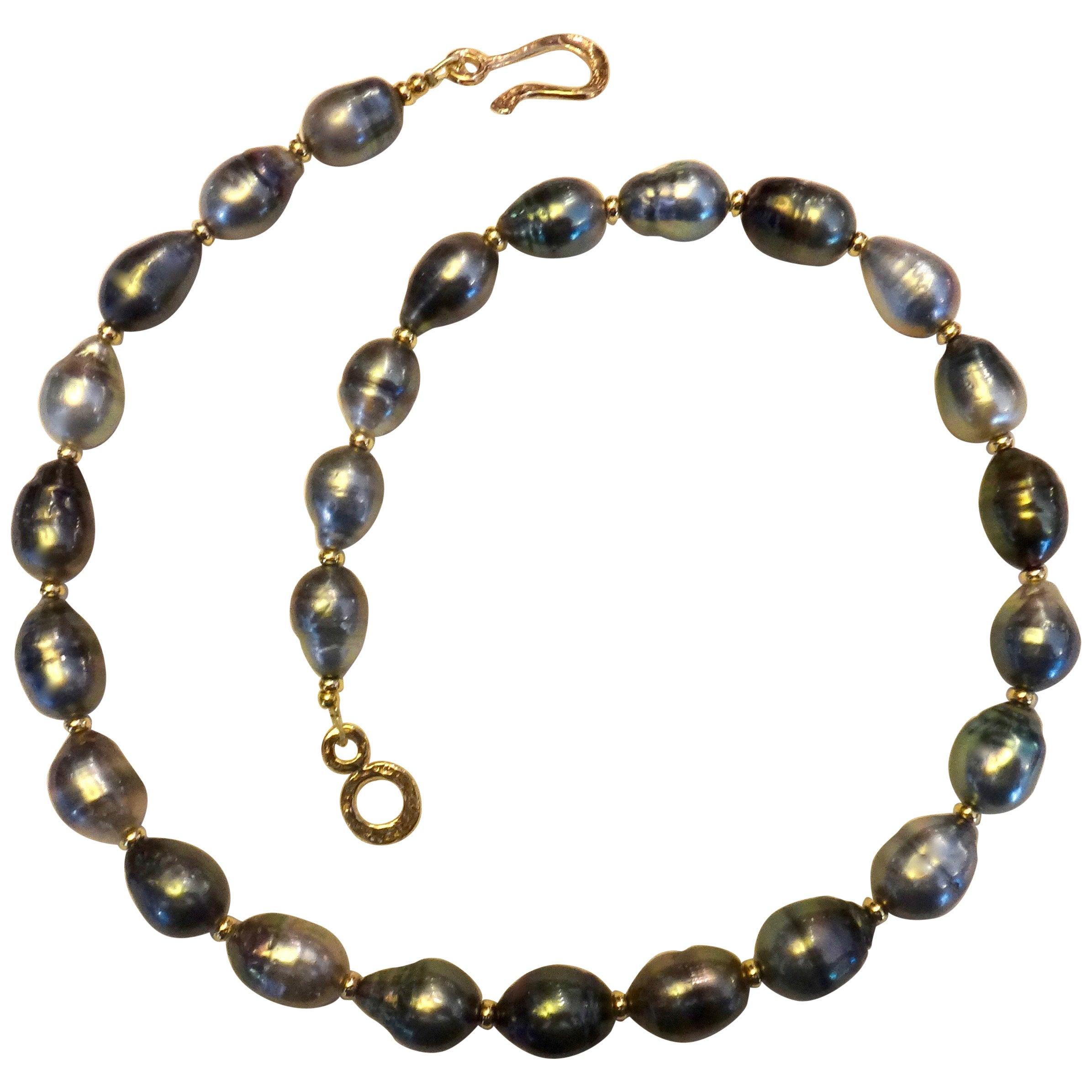 Michael Kneebone Baroque Tahitian Pearl Necklace