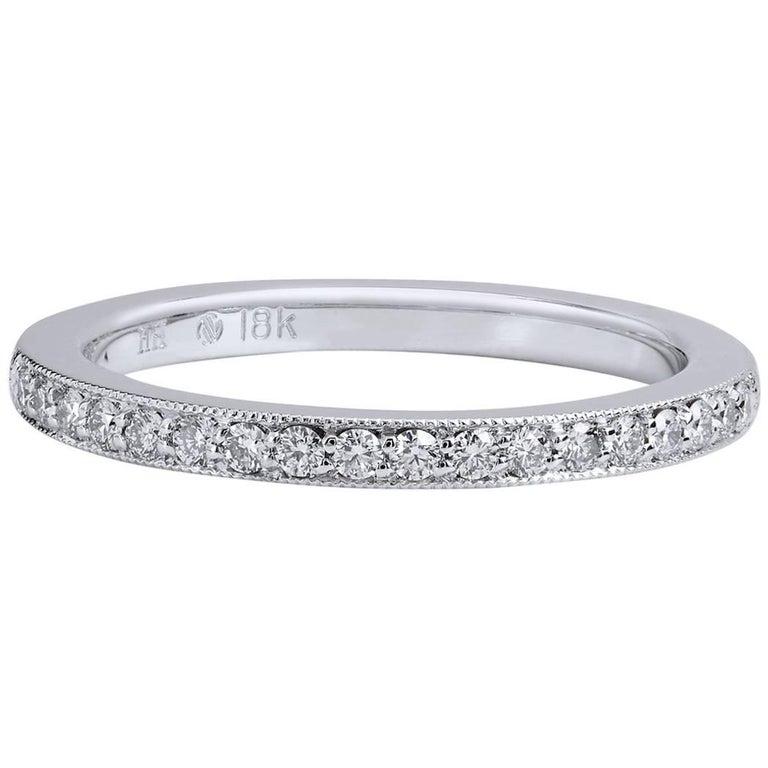 H & H 0.18 Carat Diamond Band Ring