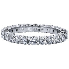 3.00 Carat Round Brilliant Cut  Diamond Shared Prong Eternity Band
