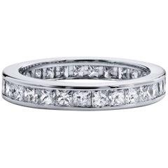 3.00 Carat Princess Cut Diamond Band Ring
