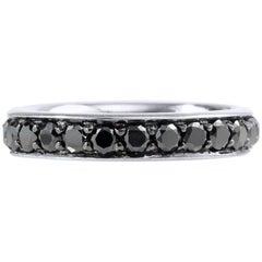 H & H 1.65 Carat Black Diamond Band Ring