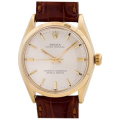 Rolex Yellow Gold Oyster Perpetual Self Winding Wristwatch Ref 1002, circa 1965