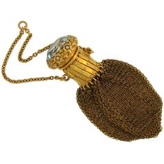 Victorian Rock Crystal Yellow Gold Coin Purse