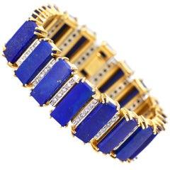 Birks Lapis Lazuli and Diamond Bracelet