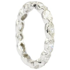 14 Karat White Gold 1.5 Carat Marquise Cut Diamond Eternity Band