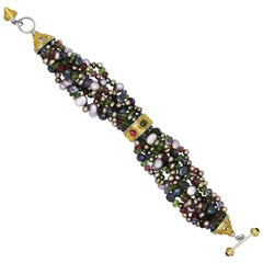 Alix Freshwater Pearl and Colored Stone Torsade Bracelet