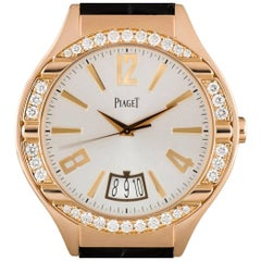 Piaget Rose Gold Diamond Set Polo Automatic Wristwatch Ref G0A33159