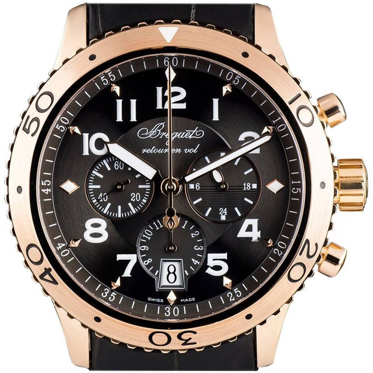 Breguet Type XXI Flyback Rose Gold Brown Dial 3810BR/92/9ZU Automatic Wristwatch
