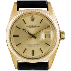 Rolex Datejust Vintage Gents Gold Champagne Dial 1601 Automatic Wristwatch
