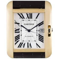 Cartier Unworn Tank Anglaise Gold Silver flinque Dial W5310032 Automatic Watch