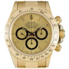 Rolex Zenith Movement Cosmograph Daytona Gold Champagne Dial 16528