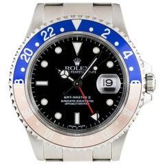Rolex GMT-Master II Pepsi Bezel Gents Steel Black Dial 16710 Automatic Watch
