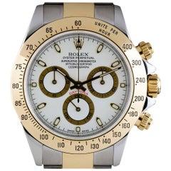 Rolex Cosmograph Daytona Steel & Gold White Dial 116523 Automatic Wristwatch