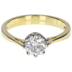 Classic 1.00ct Diamond Solitaire Engagement Ring in 18 Carat Gold