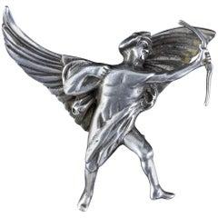 Antique Victorian Silver Eros Brooch Circa 1900
