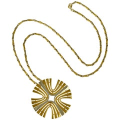 Cartier Paris 1970s Modernist Gold Pendant