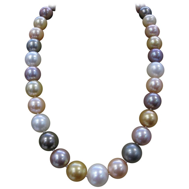 Multi-Color South Sea and Fresh Water Pearls