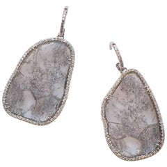 Grey and White Diamond Filly Slice Eardrops