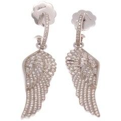 House of Garrard Diamond Gold Angel Wing Earrings