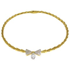 1.51 Pear Shape Diamond Necklace Set in 18 Karat Yellow Gold