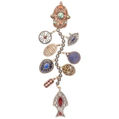 Clarissa Bronfman Antique Moroccan Silver 'Only The Brave' Symbol Tree Necklace