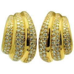 Van Cleef & Arpels Diamond Triple Hoop Earrings