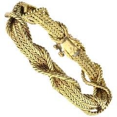 Vintage Cartier Yellow Gold Bracelet