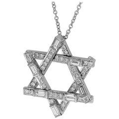 Harry Winston Symbols by Harry Winston Diamond 1.23 Carat Star of David Pendant