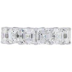 GIA Certified 13.16 Carat Asscher Cut Diamond Eternity Band