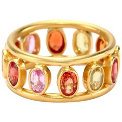 Lauren Harper Multicolored Sapphire Yellow Gold Ring