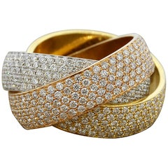 Diamond Gold Trinity Band Ring